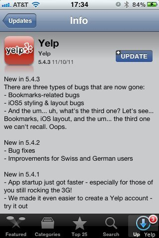 YELP RICK PERRY FLUB