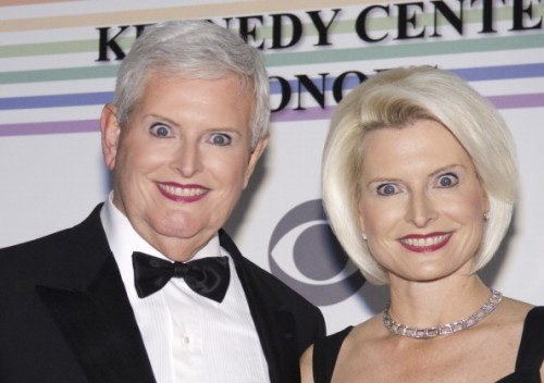 Gingrich newt wife callista robotic smile kennedy center look alikes